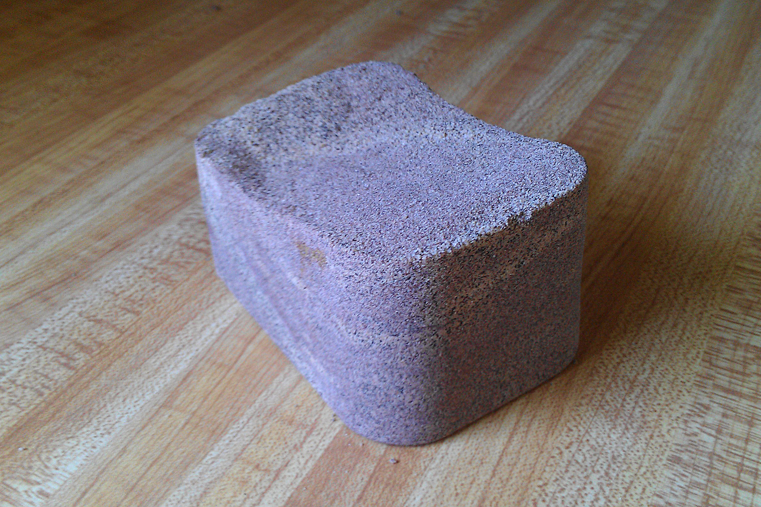 A block of California Rock Coffee, one of the most unusual coffees known to man.